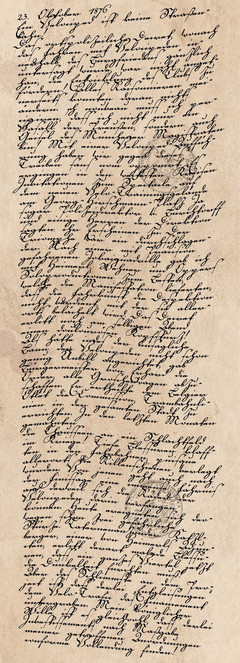 Tagebucheintrag vom 23. Oktober 1876