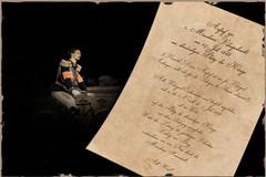 König Ludwig auf der ersten Velociped-Nacht und der Aufruf im Original
