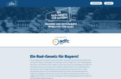 Screenshot der Aktions-Website Ein Rad-Gesetz für Bayern!