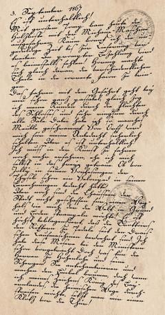 Tagebucheintrag vom 3. September 1867