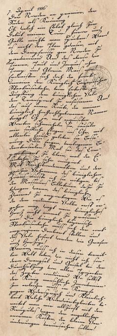Tagebucheintrag vom 7. April 1886