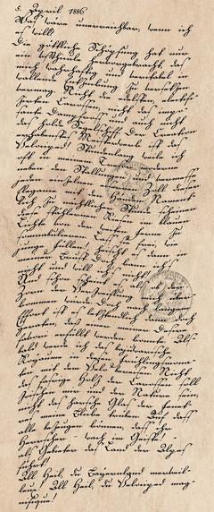 Tagebucheintrag vom 5. April 1886