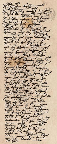 Tagebucheintrag vom 08. Juli 1868