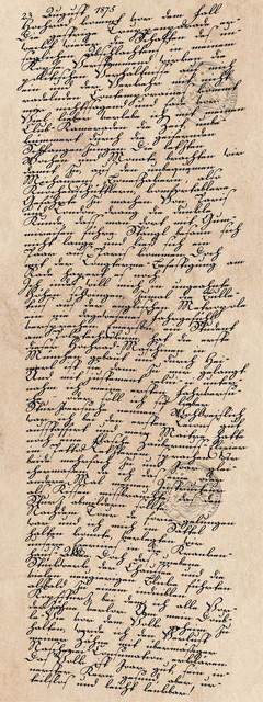 Tagebucheintrag vom 23. August 1875