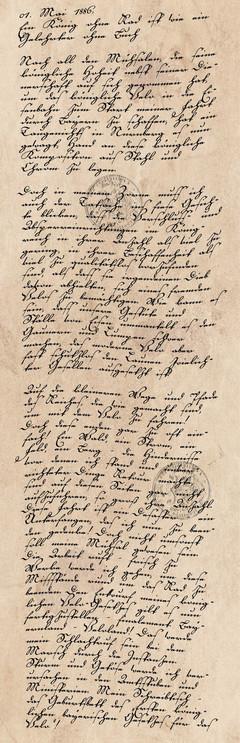Tagebucheintrag vom1. Mai 1886