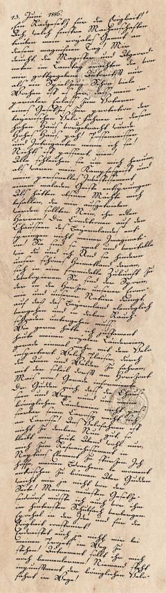 Tagebucheintrag vom 13. Juni 1886