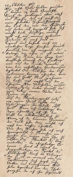 Tagebucheintrag vom 14. Oktober 1867