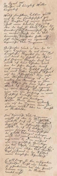 Tagebucheintrag vom 22. April 1886